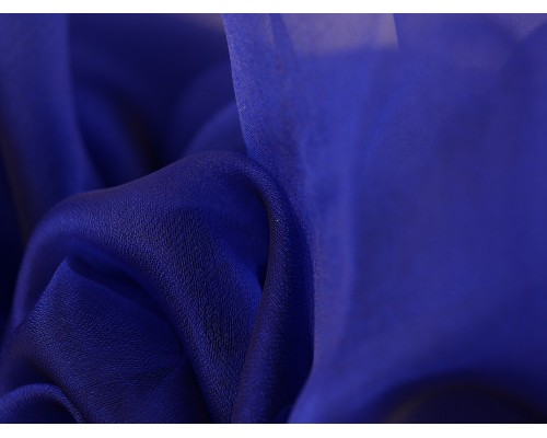 Crystal Organza Fabric - Blue
