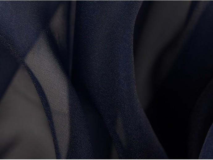 Crystal Organza Fabric - Navy