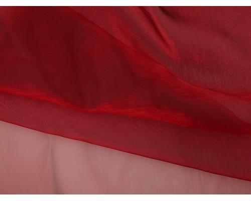Crystal Organza Fabric - Ruby