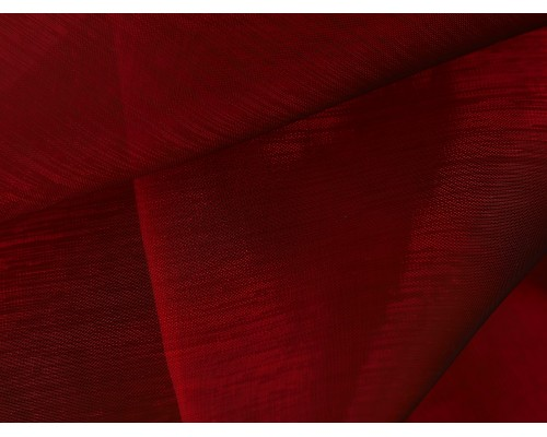 Crystal Organza Fabric - Ruby
