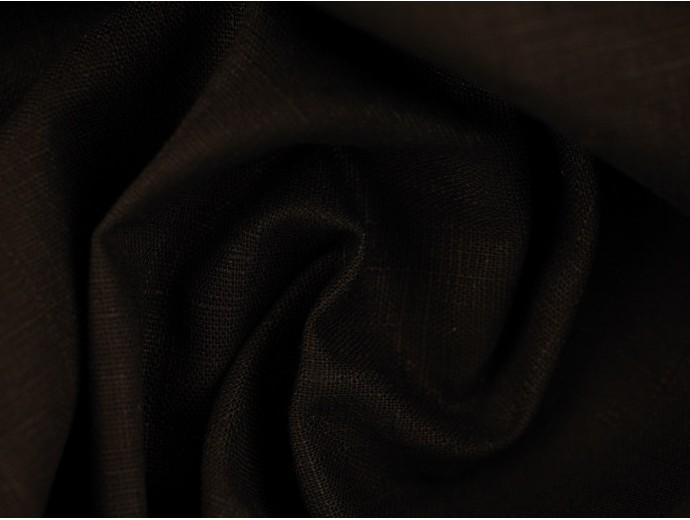 Linen Fabric - Black