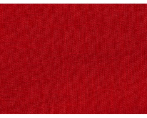 Linen Fabric - Cardinal Red