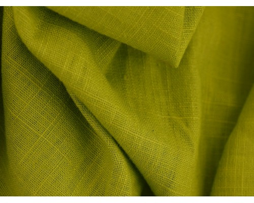 Linen Fabric - Lime