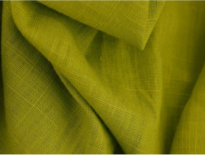 Linen Fabric - Lime