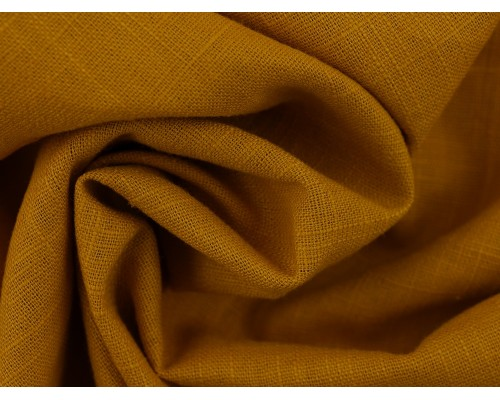 Linen Fabric - Mustard