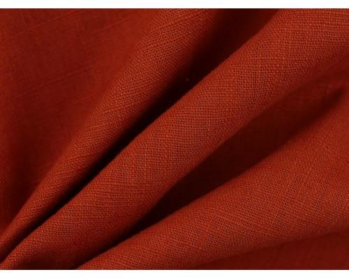 Linen Fabric - Terracotta