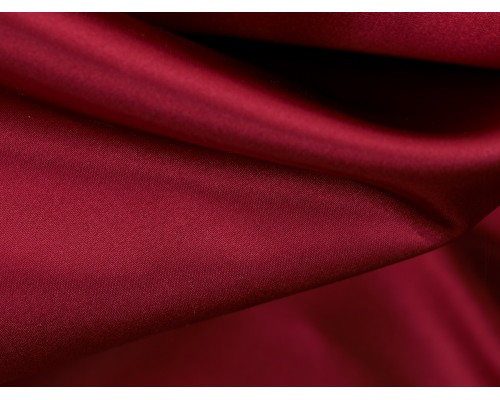 Duchess Satin Fabric - Holly Berry
