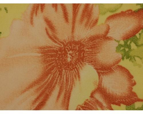 Printed Chiffon Fabric - Peach Flowers