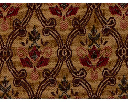 Tapestry Fabric - Red Damask