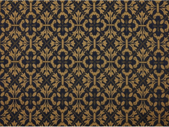 Tapestry Fabric - Blue Damask