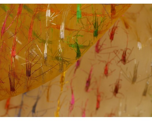 Organza Tails Fabric - Multicoloured Sparkle