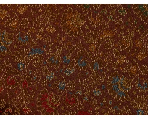 Chinese Design Jacquard Fabric - Brown Floral