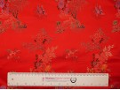 Chinese Design Jacquard Fabric - Red Landscape