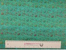 Chinese Design Jacquard Fabric - Turquoise Floral