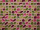 Printed Cotton Poplin Fabric - Elephants on Parade