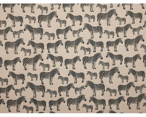 Printed Cotton Poplin Fabric -  Zebra