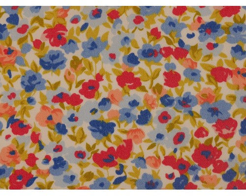 Printed Cotton Poplin Fabric -  Ditsy Floral