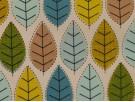 Printed Cotton Poplin Fabric -  Spring Leaves