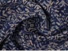 Panama Viscose Fabric - Blue Batik