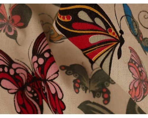 Canvas Fabric - Butterflies