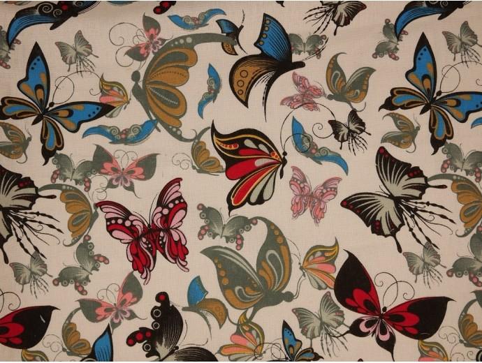 Canvas Fabric - Butterflies