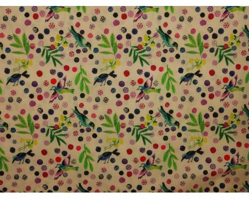 Woven Cotton Fabric - Roitelet