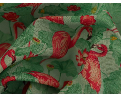 Woven Cotton Fabric - Flamant