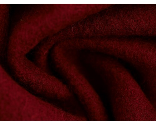 Pure Boiled Wool - Wine Red