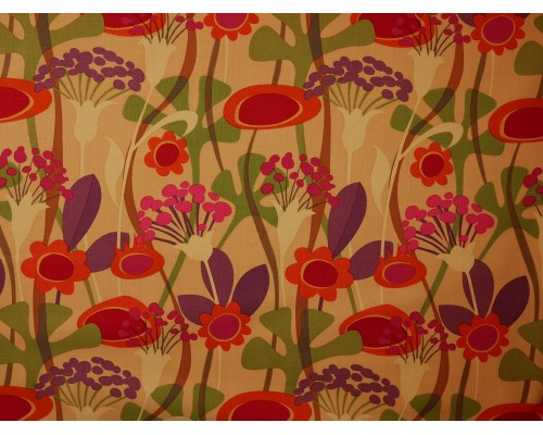 Printed Cotton Poplin Fabric -  Seedheads