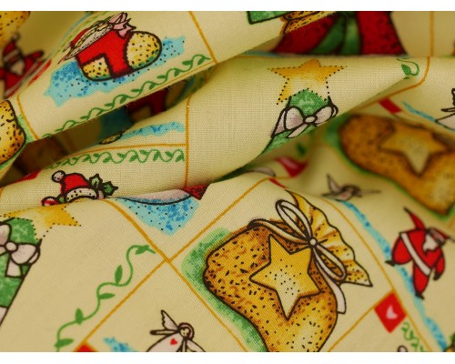 Printed Cotton Lawn Fabric - Christmas