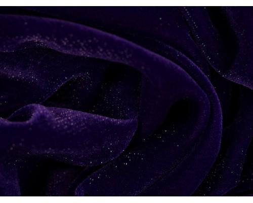 Velvet Sparkle Fabric - Purple