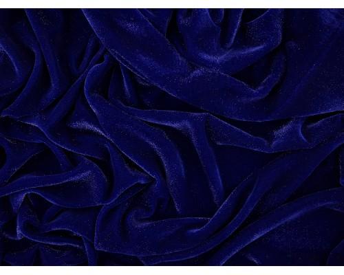 Velvet Sparkle Fabric - Royal