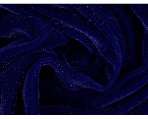 Velvet Sparkle Fabric - Royal
