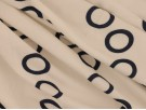 Single Jersey Printed Fabric - Navy Circles on White