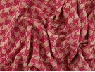 Woven Jacquard Fabric - Pink Houndstooth
