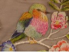 Embroidered Tulle Fabric - Birds and Flowers