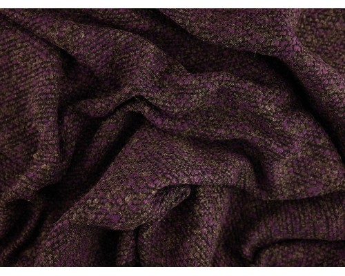 Woven Jacquard Fabric - Purple Marl