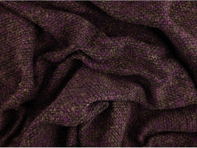 Woven Jacquard Fabric - Purple Marl