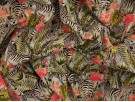 Printed Cotton Poplin Fabric -  Jungle