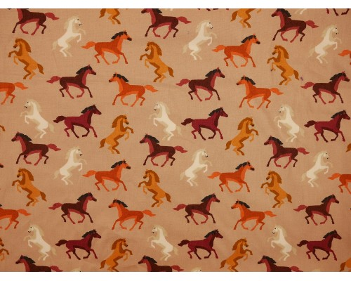 *Fabric of the Week* Printed Cotton Poplin Fabric -  Horses