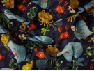 Printed Cotton Poplin Fabric - Poulpy