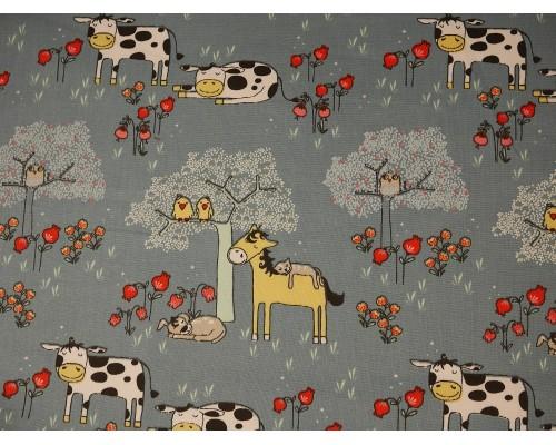 Printed Cotton Poplin Fabric - Dodo