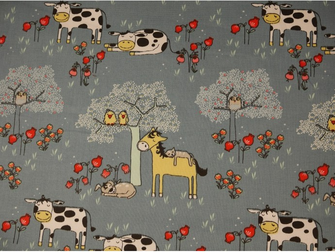 Printed Cotton Poplin Fabric - Dodo