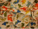 Printed Cotton Poplin Fabric - Dino Land