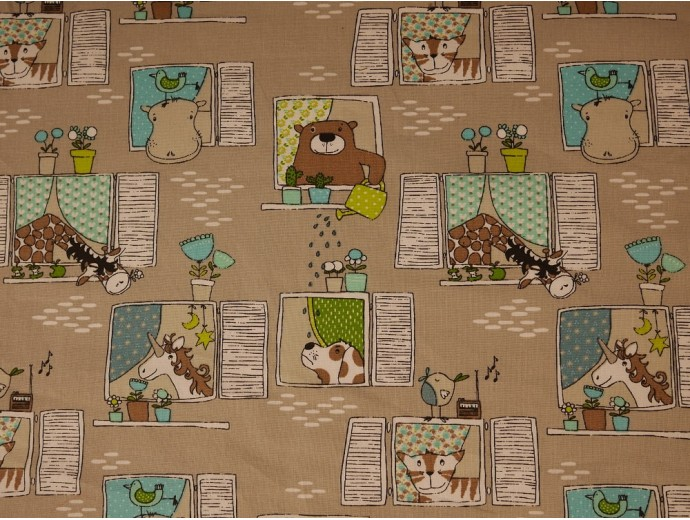 Printed Cotton Poplin Fabric - Voisin