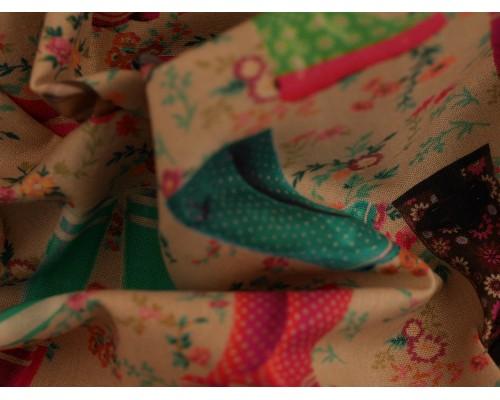Printed Cotton Poplin Fabric -  Printemps 1
