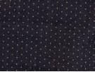 Chambray Denim Fabric - Indigo with Polka Dots