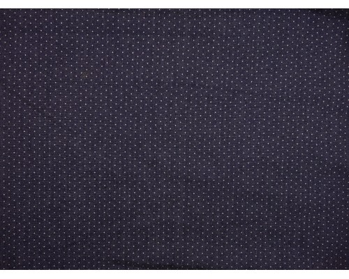 Chambray Denim Fabric - Indigo with Polka Dots