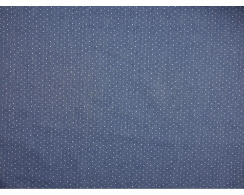 Chambray Denim Fabric - Blue with Polka Dots