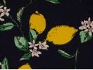 Printed Cotton Poplin Fabric -  Lemons